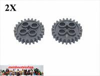 2X Lego® 3648 Technik Getriebe Zahnräder 24 Zähne neues Dunkelgrau NEU