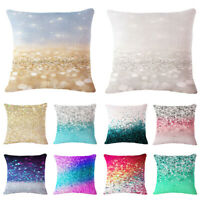 Change Color Linen Cotton Throw Pillow Case Cushion Cover Home Sofa Decor 18inch