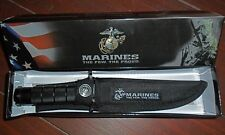 USMC Fixed Blade Survival Knife . OFFICIALLY LICENSED by the US Marine Corps