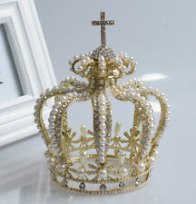 15cm High Crystal Wedding Bridal Party Pageant Prom Tiara Crown - 2 Colors