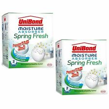 Unibond Moisture Absorber 4 Refills 3in1 Power Tabs Dehumidifier Spring Fresh