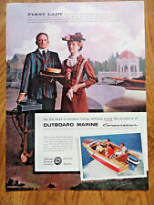 1957 Outboard Marine Boat Motors Evenrude Ad First Lady Lake Okauchee Wisconsin