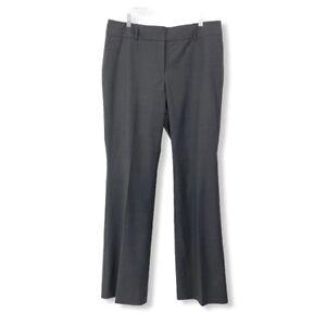 Ann Taylor NEW Women's Tall 14 14T Trouser Dress Pants Gray Pinstriped Stretch