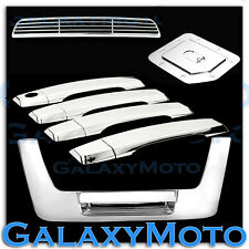 Chrome 4 Door Handle W/O PSG+Tailgate+Gas+3RD Brake Cover for 04-12 Nissan Titan