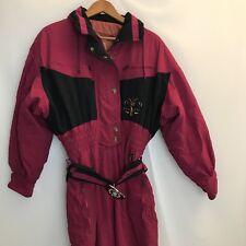 Bogner Women's Size 12 Vintage Snow Ski Suit VTG Reg Black Winter One Piece