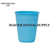1000 Disposable Drinking Cups BLUE 5 oz Patient Dental Medical Tattoo Spa