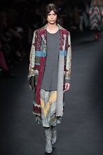 Valentino (US.4 LOOSE) $11,000 Fall 2015 Garden Party Handmade Lace/Fleece Coat