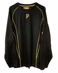 Pittsburgh Pirates Majestic Mens On Field Practice Pullover Size Large Pockets