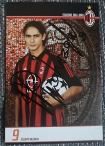 Filippo Inzaghi original signierte Autogrammkarte, autograph,AC Mailand,Milan