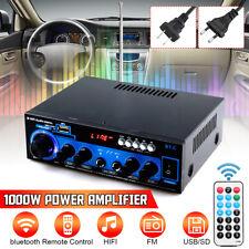 1000 Watt Home Power Amplifier 2 Channel Digital bluetooth AMP Stereo FM Radio