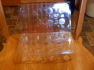 SET of 3 Yankee Candle Clear Plastic Storage Cases suitable for votive candles