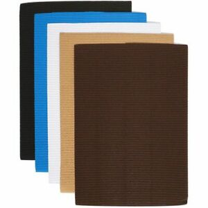 """30x Corrugated Cardboard Sheets Paper for Invitation Neutral Colors 8.5 x 11"""""""