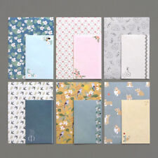 1x Beautiful Illust Letter set-4x Writing Stationery Paper 2x Envelope 2xSticker