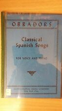 Classic Spanish Songs For Voice And Piano: Music Score (A5)
