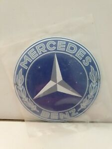 """""""MERCEDES BENZ""""  Stove Enamel Sign Really Neat  5"""" Wide ave   holed  New.  No56"""