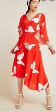 Anthropologie Tracy Reese Pascaline Silk Midi Dress Hope for Flowers size10 $498