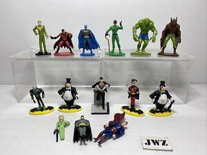 Small Figures DC Comics penguin, Riddler Batman superman etc - BUNDLE - x14