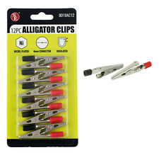 12Pc Alligator Clips Set with Insulated Grip Set for Electrical Craft Hobby Home