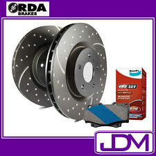 FITS TOYOTA LANDCRUISER 100 SERIES - SLOTTED RDA FRONT Rotors & BENDIX 4WD PADS