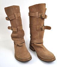 Steve Maden Buck Beige Leather Knee High Boots 9 M Womens