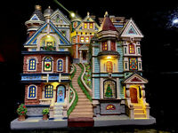 "VHTF LEMAX Village ""HOUSES ON A HILL"" Lighted RARE 2020 City Streets NIB New"