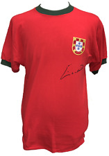 Eusebio Signed Portugal Football Shirt + Coa & Proof Benfica Football Soccer