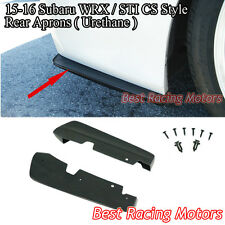 Bottom Line Style Rear Bumper Aprons (Urethane) Fits 15-18 Subaru WRX STi