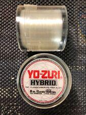 YO-ZURI Hybrid Fluorocarbon-Nylon Fishing Line 8lb Test / Clear / 850 Yards