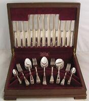 SALISBURY Design ELKINGTON Sheffield Silver Service 50 Piece Canteen of Cutlery