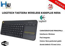LOGITECH TASTIERA WIRELESS K400PLUS NERA
