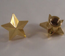 "2 Gold ""Rock Star"" Air Valve Stem Caps for Honda Motorcycle Bike Wheel Tire Rims"