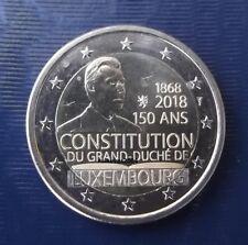 2 Euro commémorative  Luxembourg 2018 - 150 ans Constitution UNC