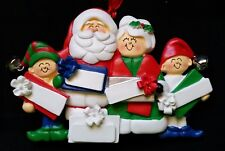 Personalized Mr & Mrs Santa Claus two Elf 5 Packages Family Christmas Ornament
