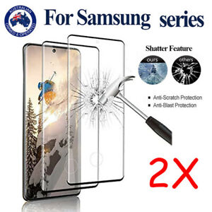 2x For Samsung Galaxy S21 S20 Ultra S10 Note 20 Tempered Glass Screen Protector