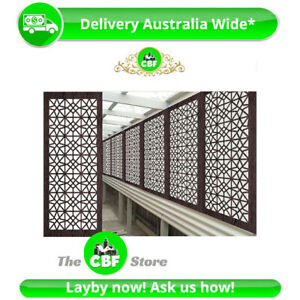5 PACK - Venice - Australian Made Privacy Wooden Outdoor Screens - 600x1200mm