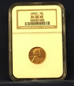 1942 Lincoln Wheat Cent MS 66