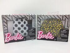 New Lot 2 Barbie Doll Fashions Cheetah Leopard Print & Polka Dot Skirt Clothes