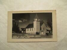 RPPC Minnesota Pequot Lakes Grace Ev Bretheren Church Real Photo MN Postcard