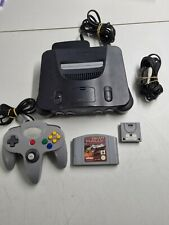 Nintendo 64 mit allen Original Kabeln und 1 Controller und 1 Spiel 100% Ok