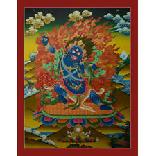 "Tibetan Buddhist 29.5""x 22.5"" Vajrapani Thangka Painting"