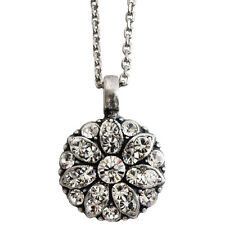 Mariana Charm Pendant Necklace Swarovski Crystals and 925 Sterling Silver