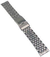 Acero Inox Pulsera de Reloj Cinta Metal con Cierre Desplegable 20-24mm Banda 3
