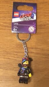 THE LEGO MOVIE - LUCY MINI FIGURE KEYRING - KEYCHAIN - BRAND NEW - 853868