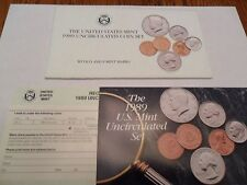 1989 Mint Set Envelope ONLY *NO COINS*  **FREE SHIPPING**