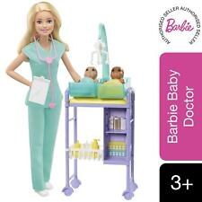 More details for barbie careers doll baby doctor blonde and playset toy for kids