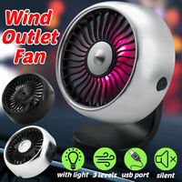 Car Air Conditioning Fan Vent USB Fan 5V Cooling Wind Outlet Fan Clip On Silent