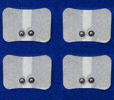 4 Tens Elektroden Pads 74 x 53 mm Druckknopf f Sanitas SEM 40 42 43 44 Beurer CE