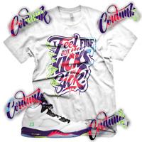 New White SICK KICKS Sneaker T Shirt for Jordan 5 Alternate Bel Air V