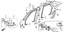72315-SN7-G02ZA Türdichtung Tür vorne Rechts Honda Accord MJ 1996