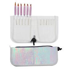 Mermaid Fish Scale Brush Holder Storage Case Makeup Pen Organizer Nail Art Tools